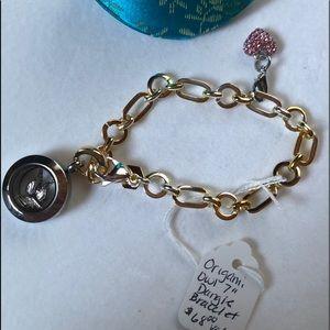 "Origami Owl Locket 7"" Dangle Bracelet"